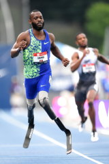 Blake Leeper competes in the Men's 400m during the USA Outdoor Track and Field Championships.