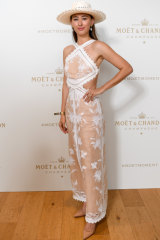 Classic hat ... Eleanor Pendleton at last weekend's Moet and Chandon Stakes at Randwick.