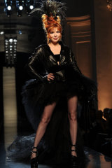 French singer Mylene Farmer, long-time muse of Gaultier.