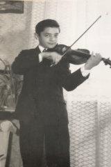 Jozsef Tallosi age 13, in Budapest, Hungary.