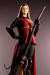 Bonnie Wright in her Quidditch kit from the Harry Potter franchise.