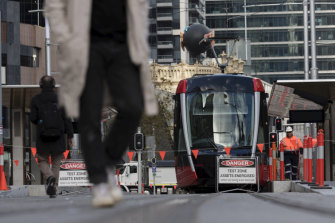 Transport Minister Andrew Constance says pedestrians need to keep their wits about them.