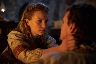 Wasikowska and Herriman in Judy & Punch.