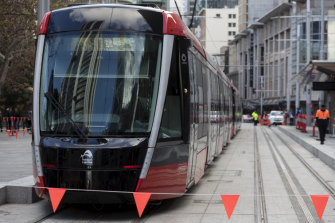 Day-time testing of the trams to Town Hall will start in the next few weeks.