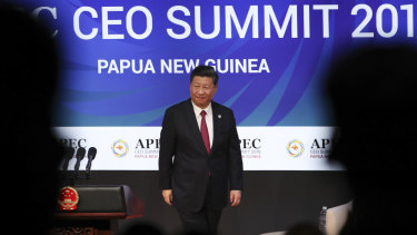 Xi Jinping at the APEC CEO Summit in Port Moresby.