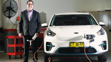 Kia chief operating officer Damien Meredith hopes to be selling electric cars in Australia by the end of 2019.