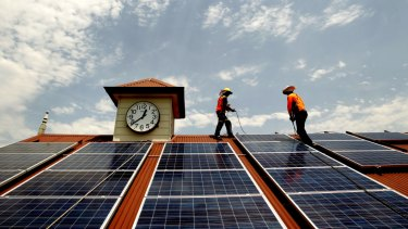 Households  and businesses would be enticed to put solar panels on their roofs.