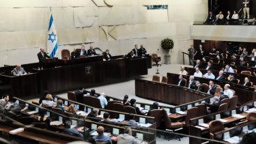 The Israeli Knesset.