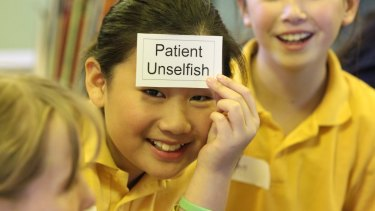 Students take part in an ethics class at Leichhardt Public School.