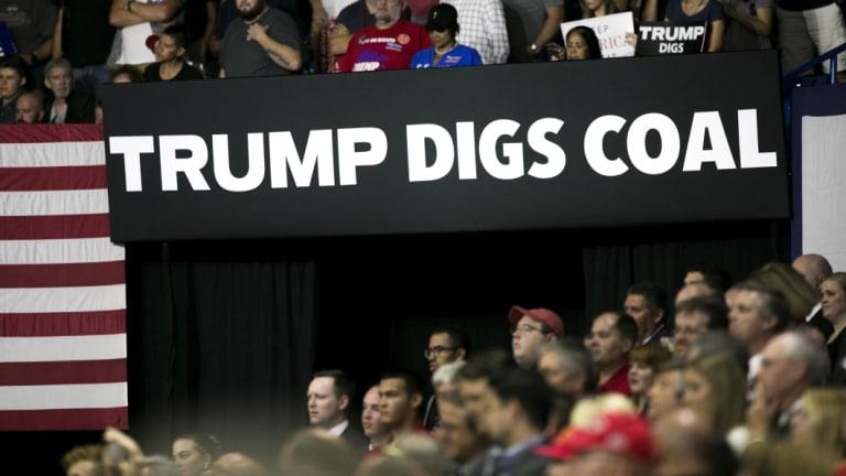 A trump rally in West Virginia last week.