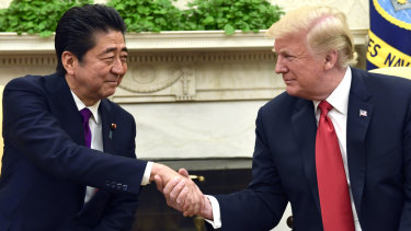 Japanese Prime Minister Shinzo Abe lobbied Trump to raise the issue of Japanese detainees.