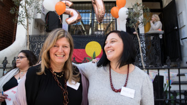 """""""Trying to make a difference"""": Lou's Place general manager Nicole Yade, right, with the organisation's chair Alexa Haslingden."""