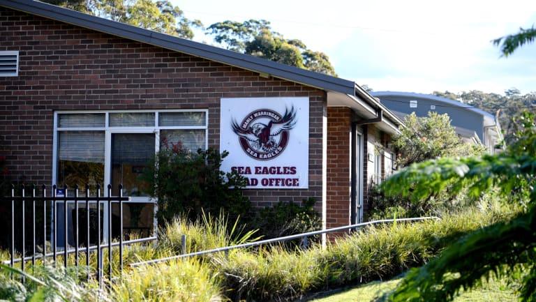 Breach: NRL officials visited the Manly-Warringah Sea Eagles club headquarters before handing down their verdict.