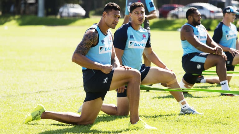 Faithful: Israel Folau offered to step away from rugby, he said.