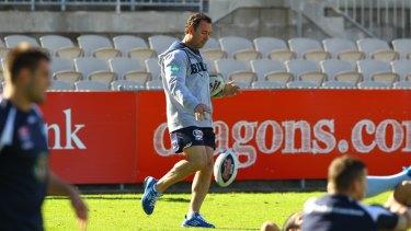 Ricky Stuart during NSW training.