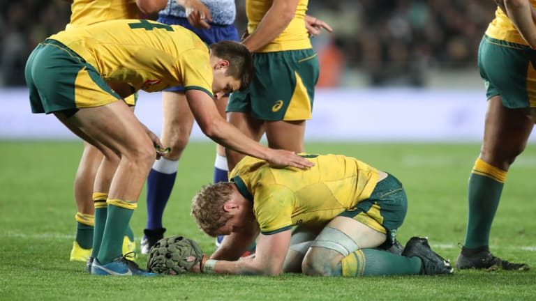 On our knees: A great sporting nation has reached peak stupid, according to a Kiwi journo . . . except for David Pocock.