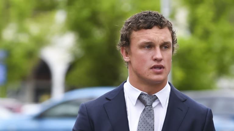 Jack Wighton arrives for his sentencing hearing.