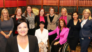 Jodi McKay with her female supporters in the Labor caucus.