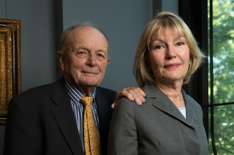 Harvey Norman executive chairman Gerry Harvey and chief executive Katie Page.