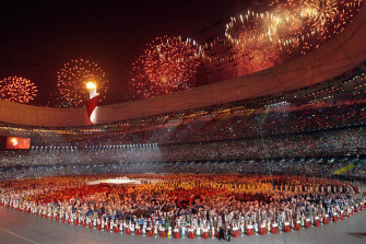 The opening ceremony for Beijing 2008.