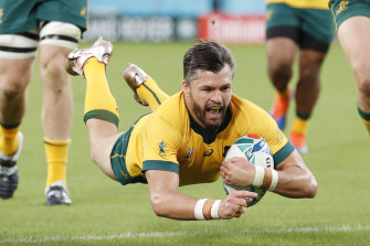 Adam Ashley-Cooper in action for the Wallabies at the 2019 Rugby World Cup.