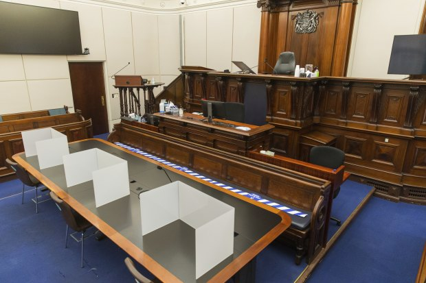 The layout of the Supreme Court of Victoria has been altered to allow jury trials to be held safely in the age of coronavirus.