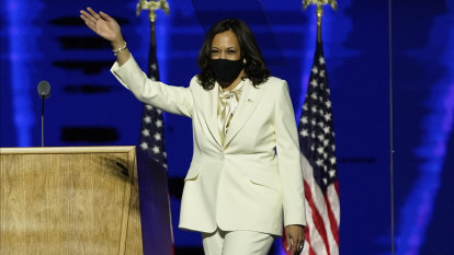 Kamala Harris' suit gave a nod to history at the same time she made it