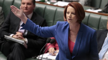 The gender index moved to minus seven when Julia Gillard became prime minister, as women backed her leadership.