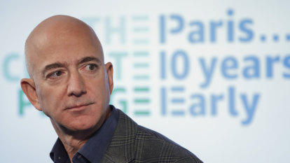 Jeff Bezos pledges to meet Paris climate pact 10 years early