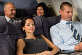 090714. 123rf. Airplane passengers relax during flight cabin sleep businesspeople  adult; air; aircraft; airplane; attractive; business; businessman; businesspeople; businesswoman; cabin; caucasian; comfort; commercial; female; flight; fly; indoor; inside; interior; jet; luxury; male; man; passenger; people; plane; private; relaxing; seat; sit; sleeping; smart; suit; tablet; tourism; transport; transportation; travel; trip; wireless; woman; young