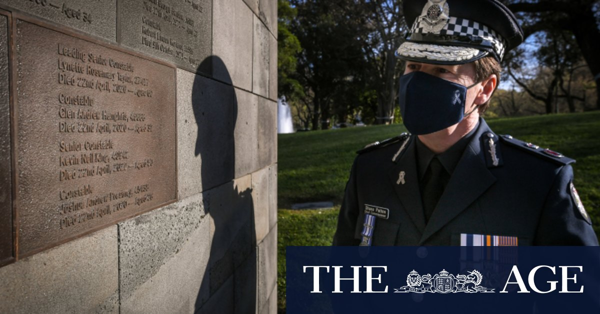 On 'sad and special day' police remember colleagues killed on freeway – The Age
