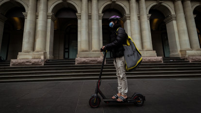 E-scooters cluttering footpaths, challenging vision impaired