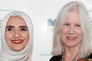 Omani author of Celestial Bodies Jokha Alharthi with translator Marilyin Booth.