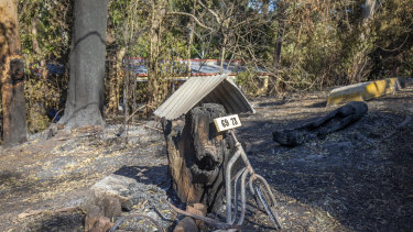 The fire at Beechmont claimed a number of homes last week.