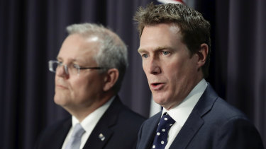 Prime Minister Scott Morrison and Attorney-General Christian Porter.