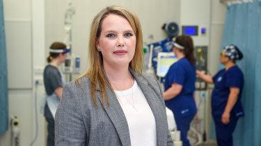 Western Health's senior ICU physiotherapist Kimberley Haines.