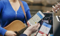 Music to their ears: 20 buskers registered with the City of Melbourne are trialling an elecronic payment system.