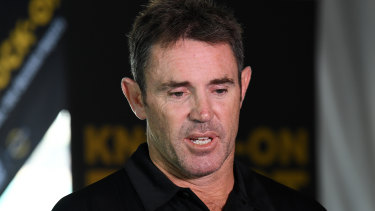 Too tough to watch: State of Origin coach Brad Fittler.