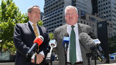 Gordon Legal's Peter Gordon (right) led the class action against the government on behalf of welfare recipients who were unlawfully forced to repay money.