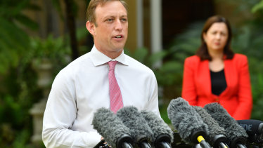 Queensland Health Minister Steven Miles has been by Annastacia Palaszczuk's side during the coronavirus crisis.
