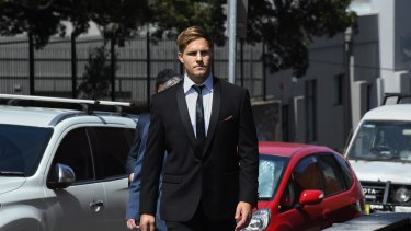 Jack de Belin won't be rushed back into the Dragons side even if he's found not guilty.