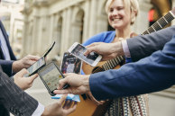 Singing her thanks: Melbourne busker Jessica Paige, pictured in Bourke Street Mall, is rapt customers can now pay by credit card.