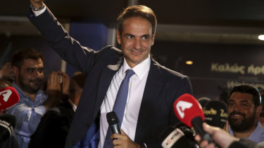 "Kyriakos Mitsotakis: ""I asked for a strong mandate to change Greece. ""You gave it to me generously. Today begins a difficult but beautiful battle."""