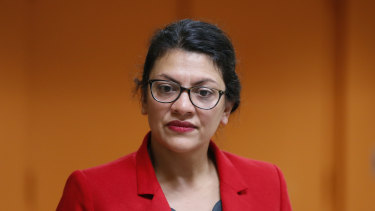 US legislators Rashida Tlaib.