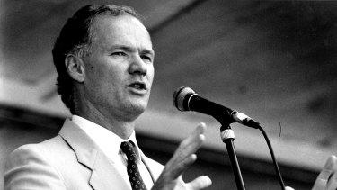 Then-Queensland premier Wayne Goss, pictured in 1990.