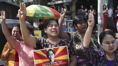Myanmar police open fire, killing one, as Red Cross says volunteers hurt