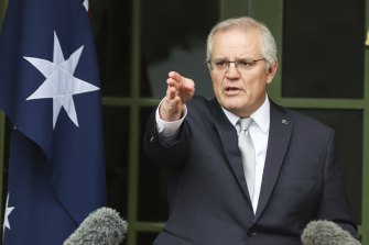 Scott Morrison says the system of COVID disaster payments is easier to target than JobKeeper income supports.