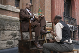 Forest Whitaker as Bumpy Johnson, left, in Godfather of Harlem.