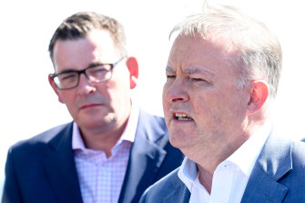 Premier Daniel Andrews and federal Labor Leader Anthony Albanese are facing a backlash from powerful Victorian trade unions.