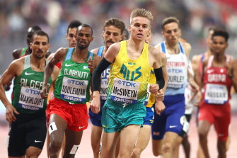 Tasmanian Stewart McSweyn is hunting for a medal in the 1500m.